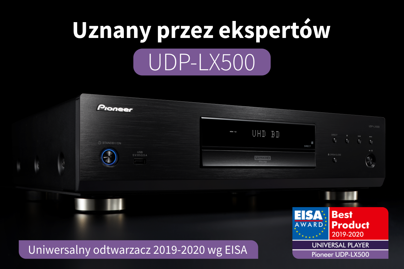 Nagroda EISA 2019-2020 dla Pioneer UDP-LX500